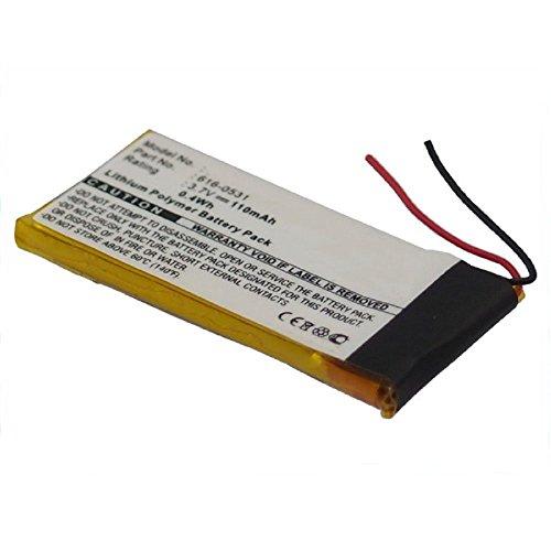 subtel® Qualitäts Akku kompatibel mit Apple iPod Nano 6 Gen. A1366 (110mAh) 616-0531 Ersatzakku Batterie