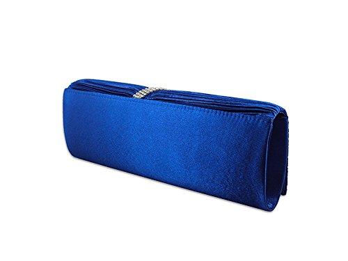 XPGG Damen Party Clutch Hardcase Abendtasche Synthetik 019 Blau