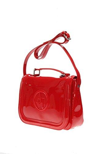 Armani Jeans Femme Sac 0529E RJ 4L Sac Porté Épaule red