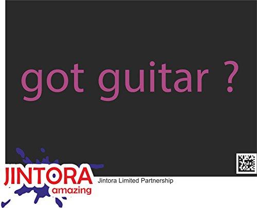 JINTORA Etiqueta para el Coche/Etiqueta engomada - Tiene Guitarra - 210x39 mm - JDM/Die Cut - Coche/Ventana/Laptop/Ventana - Violeta