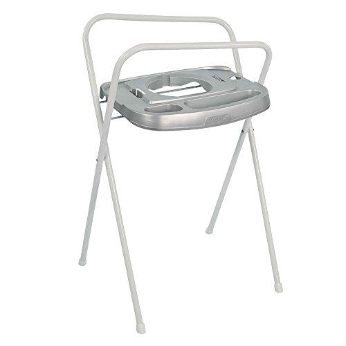 Bébé-Jou Click - Soporte bañera de 103 cm con toallero, color plata