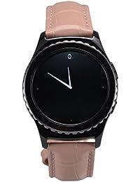 Samsung Gear S2 correa clásico pulsera OKCS® cinto, strap, cuero original brazeleta ligamento Watchband cocodrilo, en rosa