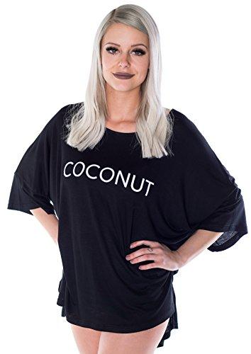 HO-Ersoka Damen T-Shirt Sommershirt Coconut Baumwolle Schwarz
