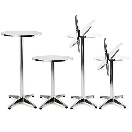 Höhenverstellbarer Aluminium Stehtisch, 2in1, höhenverstellbar, Bartisch, Bistrotisch, Tisch, klappbar (Stehtisch fest Modell 1)