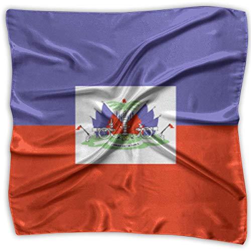 Haiti Flag Fashion Women Floral Printed Lady Quadratischer Schal Head Wrap Kerchief Neck Satin (Sexy Beanies)