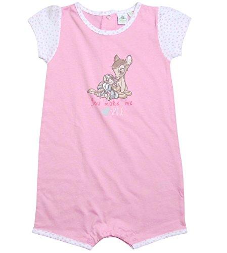 Bambi und Klopfer Strampler Kollektion 2017 Strampelanzug 62 68 74 80 86 Mädchen Disney Einteiler Kurz Neu Baby (68 - 74, Rosa) (Strampelanzug Pyjama Mädchen)