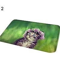 Teppich Terzsl Nette 3D Katze Tier Bad Küchentür Rutschfeste Unterlage Matte Teppich Teppich - 2#