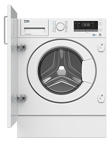 Beko HITV8733B0 Integrado Carga frontal A Blanco lavadora - Lavadora-secadora (Carga frontal, Integrado, Blanco, Izquierda, Botones, Giratorio, LED)