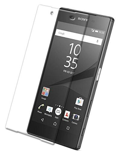 Vada-Tec 2X Schutzglas Glasfolie für das Sony Xperia Z5 Echt Glas Schutzfolie - 9H Hartglas