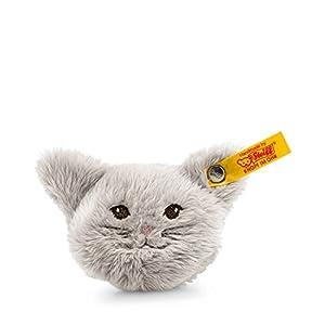 Steiff 109232 Animales de Juguete Felpa, Sintético Gris Juguete de Peluche - Juguetes de Peluche (Animales de Juguete, Gris, Felpa, Sintético, Cat (Animal), Niño/niña, 30 °C)