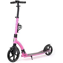 Star-Scooter Pro Sport Trottinette 2 Roues pour Adultes et Enfants de 8-10 Ans ★ Patinette Enfant Pliable 230mm avec Roues Grande Edition Ultimate ★ Rose