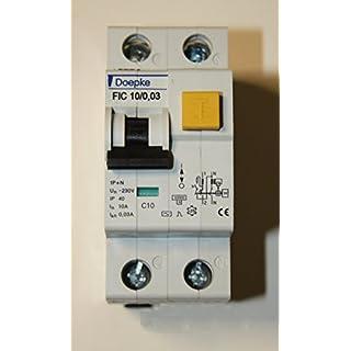 Doepke FIC 10/0,03–10A 30mA Typ C Doppelpoliger FI-Schutzschalter
