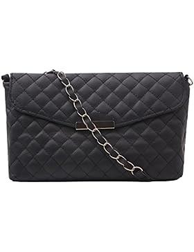 Umhängetasche für Damen | Kleine Tasche aus Leder | Schwarze Handtasche Accessoire für Frauen | Elegante Damentasche...