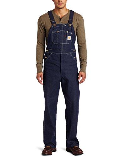 Carhartt - Salopette da Lavoro, Colore Blu Jeans Denim - Indigo Jeans - Pantaloni Salopette Pettorina Pantaloni Alevros Blu 28
