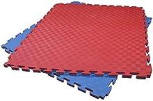 Tatami Fujimae-Puzzle. Rojo-Verde. 100 X 100 X 4 cm
