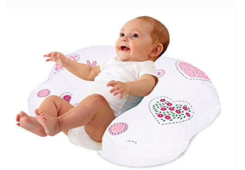 Love2Sleep BABY FEEDING/ NURSING PILLOW HOLLOWFIBRE FILLED FOR COMPLETE SUPPORT: HEARTS