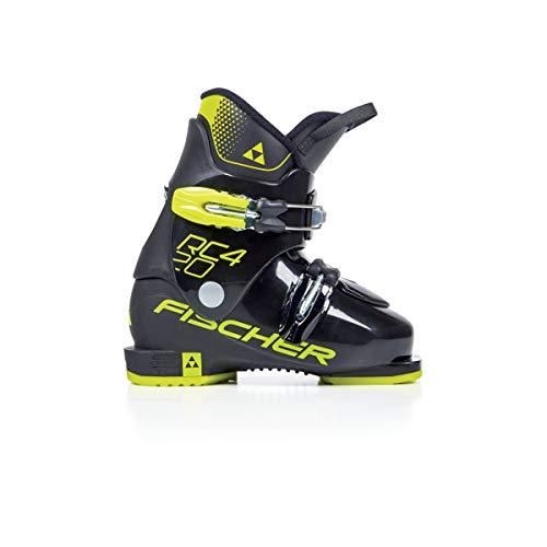 FISCHER Unisex Jugend Junior Skischuhe RC4 20 JR Thermoshape, schwarz/gelb, 20.5, 205 -