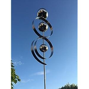 Edelstahlstele D10 Gartenstecker Edelstahl Edelstahlskulptur