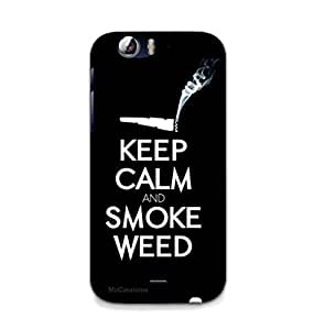 MiiCreations UV/2D Printed Back Cover for Micromax Canvas Turbo A250,Keep Calm And Smoke Weed