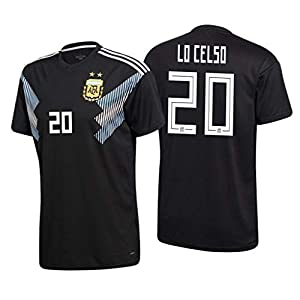 S&E Sports Giovani lo Celso Argentina Schwarz,Maillot Giovani lo Celso Trikot 2019/20 für Herren & Jungen
