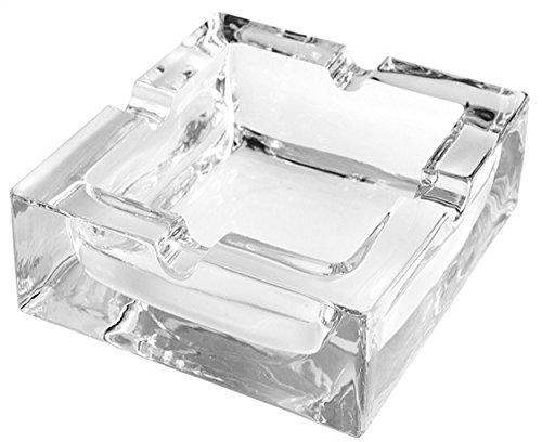 GERMANUS Aschenbecher aus Glas für Zigaretten oder Zigarren, Modell Classic 1