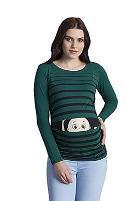Peek a Boo - Lustiges witziges süßes Umstandsshirt mit Guck-Guck Motiv für die Schwangerschaft / Umstandsmode / Schwangerschaftsshirt, Langarm