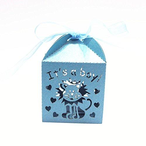 iden Gastgeschenke Box Süßigkeiten Geschenk-Boxen Baby Party Bevorzugung - Blau It's a Boy (Baby-mädchen-bevorzugung Boxes)