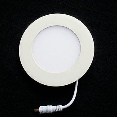 LED-Licht, 15 helle, moderne ultradünne Runde Aluminium PC-Gehäuse Weiß-90-240V #564