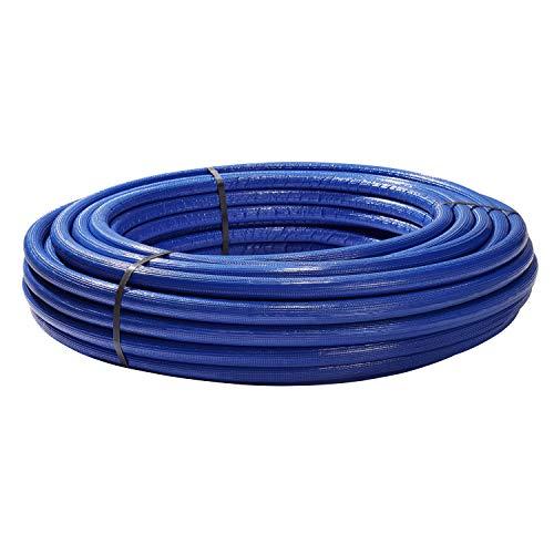 H2O-Flex Aluverbundrohr, Mehrschichtverbundrohr, 6 mm Isolierung blau, 20 x 2 mm, 50 m Rolle, DVGW Rohr
