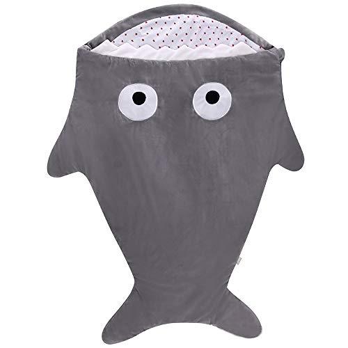 LAYBAY Neugeborenes Baby Schlafsack, warme Shark Schlafsack, Kinderwagen Schlafsack, gestrickte Decke, Baby Stricken Decke 87 * 70 cm (34,3 * 27,6 Zoll)