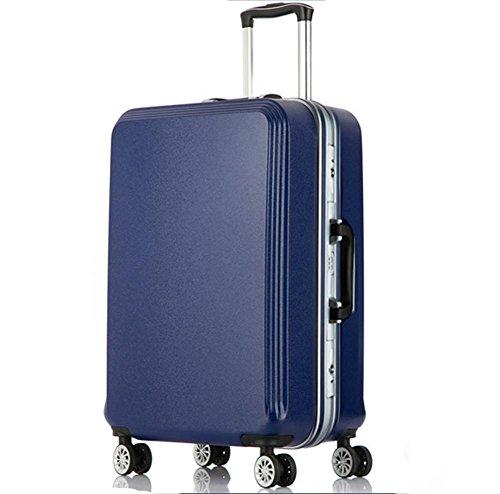 Muto universale da viaggio valigia trolley in alluminio opaco blue