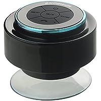 Expower IPX7 Altoparlante Bluetooth Impermeabile Stereo Antiurto Speaker Musica con Ventosa da Doccia Bagno Piscina Auto Resistente all'Acqua (nero + blu)