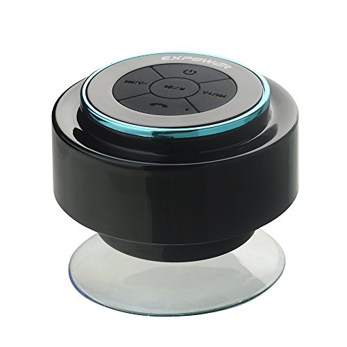 Expower IPX7 Wasserdicht Bluetooth Stereo Lautsprecher für Dusche