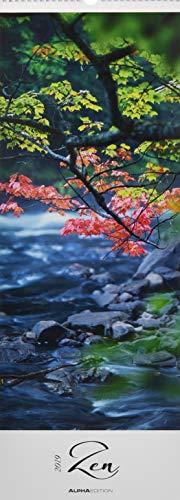 Zen 2019 - Streifenkalender XXL (25 x 70) - Natur - Wandkalender - Harmonie - Gleichgewicht