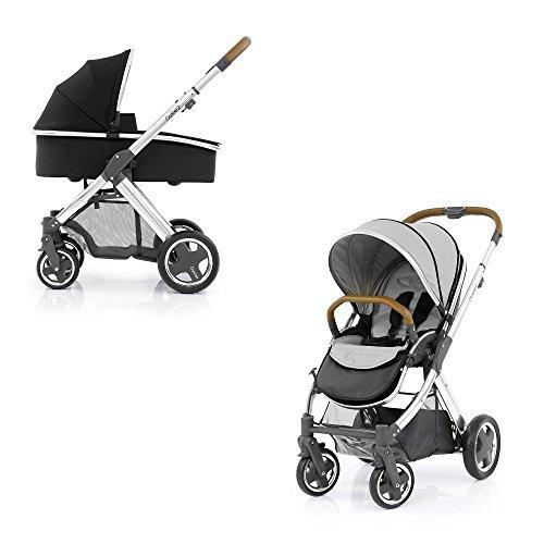 BabyStyle Oyster 2 Kinderwagen Spiegel Tan (Reines Silber) & Trageschale