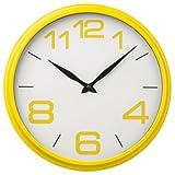 Premier Housewares 2200705 Wanduhr mit Gehäuse aus Kunststoff, Gelb