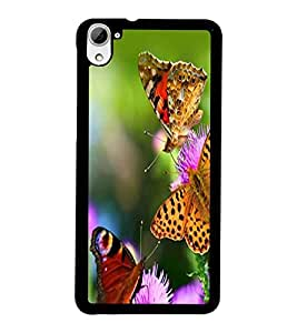 PrintDhaba Butterflies D-2331 Back Case Cover for HTC DESIRE 826 (Multi-Coloured)