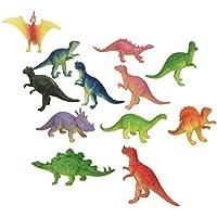 "Rhode Island Novelty ~ 12 ~ Mini Dinosaur Figures ~ Hard Plastic- 2""-3""~ NEW"