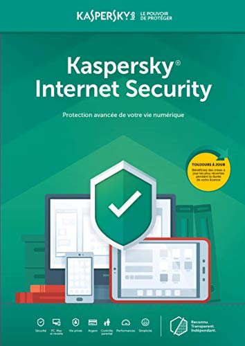 Kaspersky Internet Security | 1 Appareil  |  1 An  |  PC/Mac  | Online Code