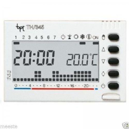BPT TH/345 Cronotermostato Digitale da Incasso, Programmazione settimanale, Bianco
