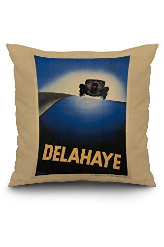 delahaye-vintage-poster-artist-perot-france-c-1932-20x20-spun-polyester-pillow-case-custom-border