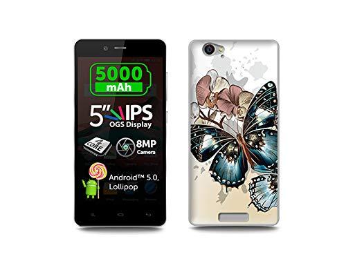 etuo Allview P6 Energy - Hülle, Silikon, Gummi Schutzhülle - Schöne Schmetterlinge