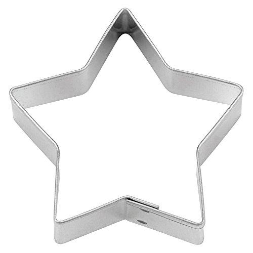 Haus 5spitz Star Cookie Cutter, silber,, edelstahl, silber, 7 cm (Cutter Star)