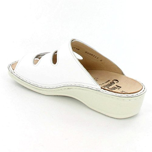 Finn Comfort Pisa, da donna, con zeppa, con motivo a sandali bianco
