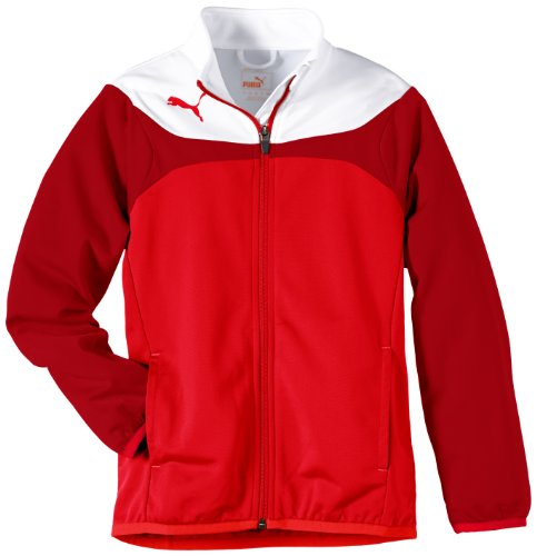 PUMA Kinder Jacke Esito Tricot Jacket, red-white, 152, 653973 01 (Collection Red Puma)