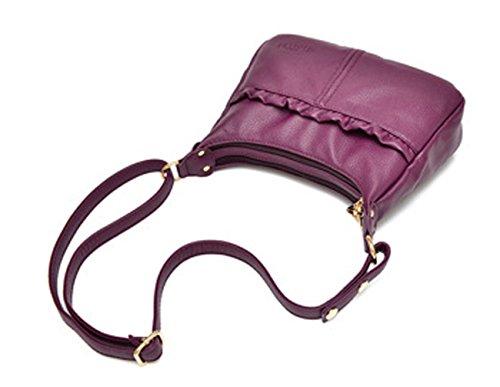 Keshi Leder Niedlich Damen Handtaschen, Hobo-Bags, Schultertaschen, Beutel, Beuteltaschen, Trend-Bags, Velours, Veloursleder, Wildleder, Tasche Saphirblau