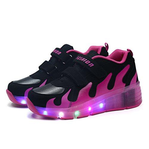 ea60ece951616b Wheelies Schuhe mit Rollen Rädern Skateboard Blinkschuhe Outdoor Sport Kinderschuhe  Led Licht Turnschuhe Leuchtend Sneaker Mädchen Jungen ...
