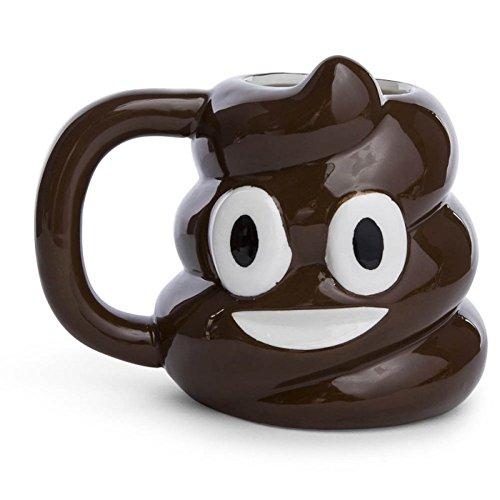 Smiley Poop Emoji-Emoticon Keramik Tasse, 20oz (Poop Gesicht)