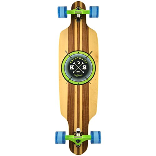 "Kryptonics Erwachsene SK15161949 Longboard 38"" Drop-Through, Skateboarding/Skaten, Sport & Freizeit-Cast Off, Mehrfarbig, M"