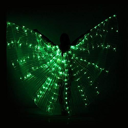 ROKOO Tanz LED Flügel Leuchten Halloween Kostüme Bühnenperformance Kleidung für Erwachsene